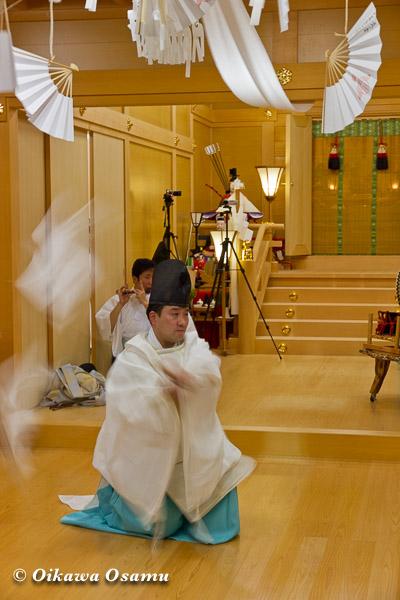 札幌村神社 2013 宵宮祭 神楽舞 番楽