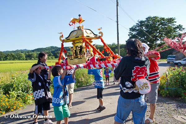 厚沢部町 鷲ノ巣神社 2013 子供神輿