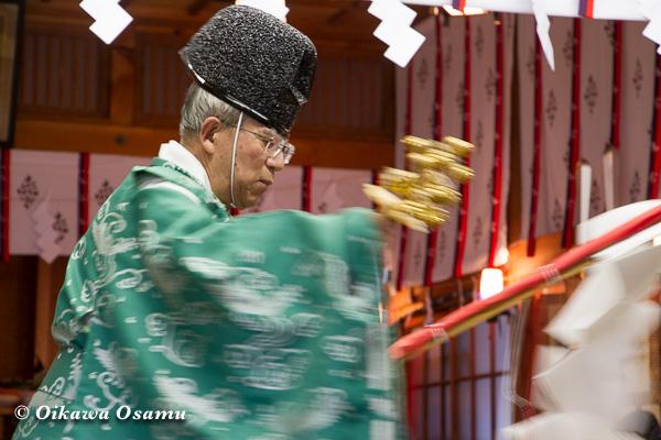 上磯八幡宮 松前神楽 榊舞 2013