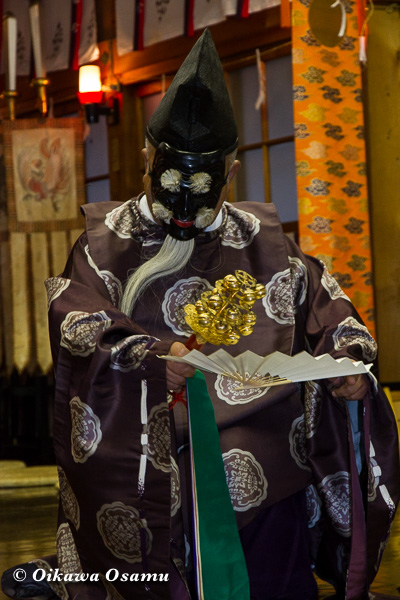 上磯八幡宮 松前神楽 三番叟舞 2013