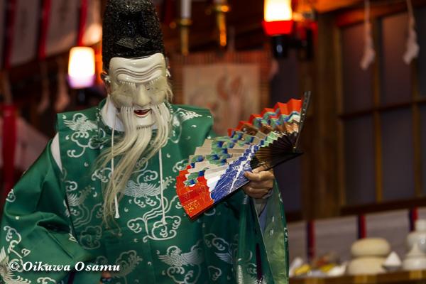 上磯八幡宮 松前神楽 翁舞 2013