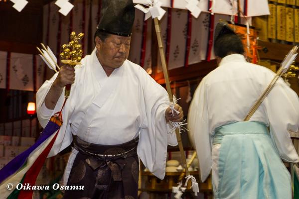 上磯八幡宮 松前神楽 神遊舞 2013