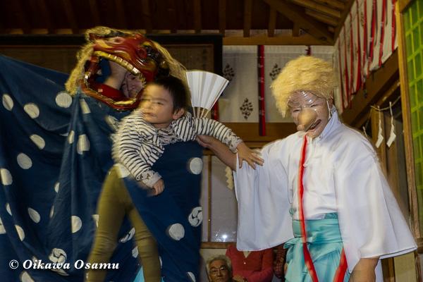 上磯八幡宮 松前神楽 十二の手獅子舞佐々良 2013