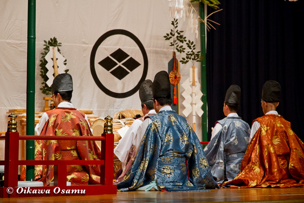 松前神楽小樽ブロック保存会合同公演 2013 京極町 神楽初