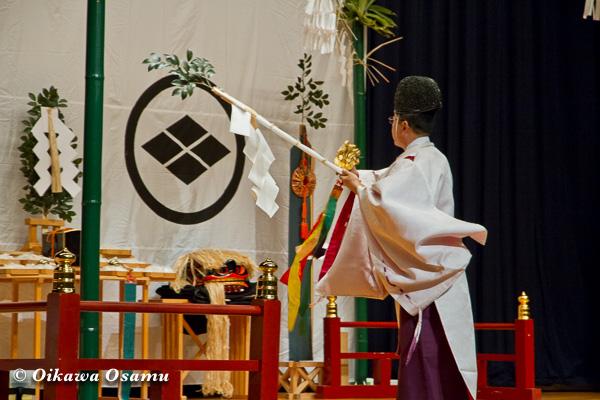 松前神楽小樽ブロック保存会合同公演 2013 京極町 後志 榊舞