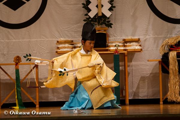 松前神楽小樽ブロック保存会合同公演 2013 京極町 寿都 福田舞