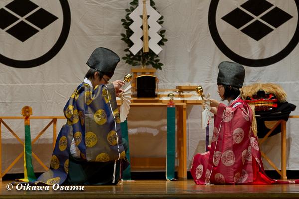 松前神楽小樽ブロック保存会合同公演 2013 京極町 神恵内 利生舞