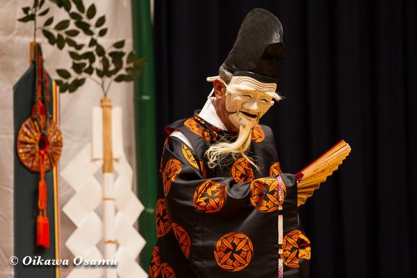 松前神楽小樽ブロック保存会合同公演 2013 京極町 小樽 翁舞