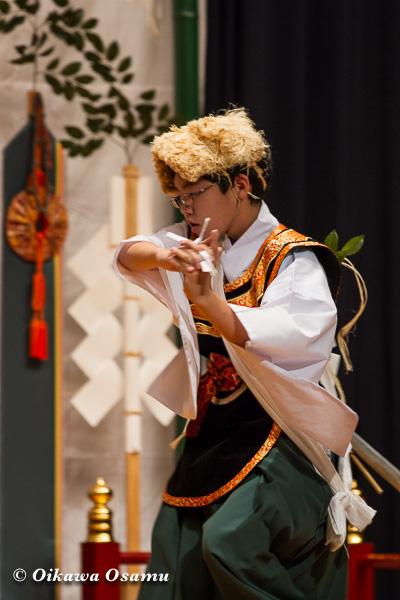 松前神楽小樽ブロック保存会合同公演 2013 京極町 神恵内 山神舞