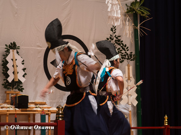松前神楽小樽ブロック保存会合同公演 2013 京極町 小樽 神遊舞