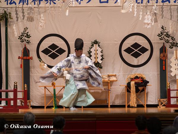 松前神楽小樽ブロック保存会合同公演 2013 京極町 後志 福田舞