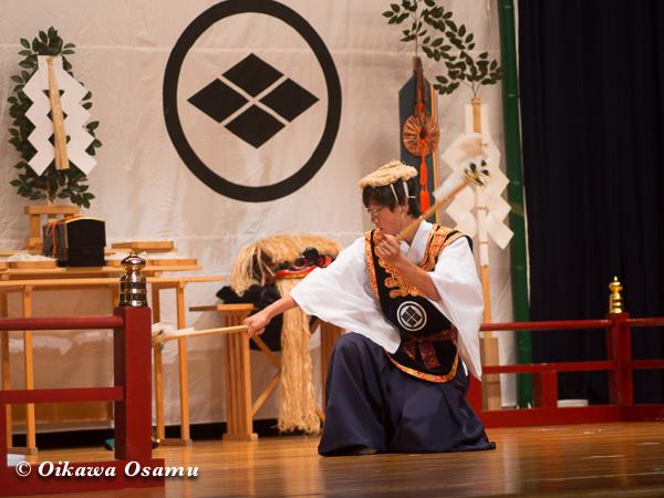 松前神楽小樽ブロック保存会合同公演 2013 京極町 寿都 荒馬舞