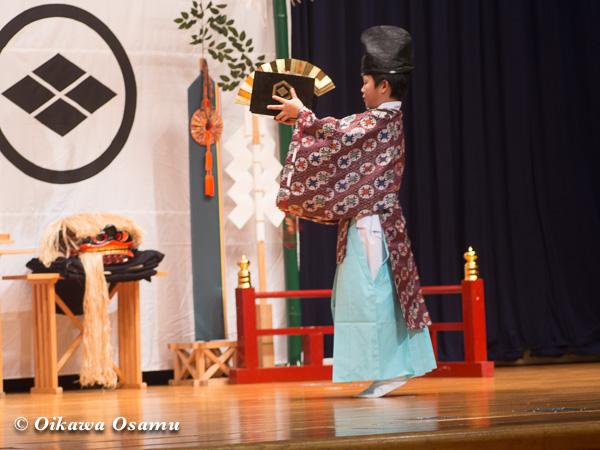 松前神楽小樽ブロック保存会合同公演 2013 京極町 鬼鹿 千歳舞