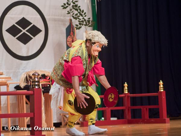松前神楽小樽ブロック保存会合同公演 2013 京極町 後志 太平楽盆舞