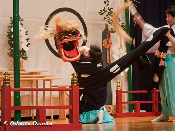 松前神楽小樽ブロック保存会合同公演 2013 京極町 後志 十二の手獅子舞五方