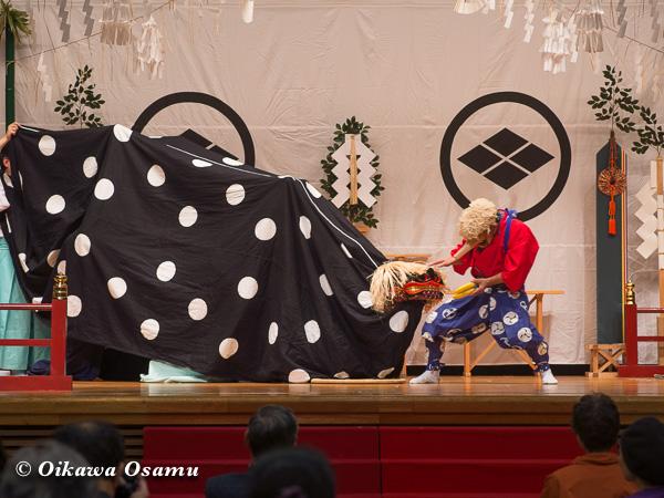松前神楽小樽ブロック保存会合同公演 2013 京極町 後志 十二の手獅子舞面足獅子