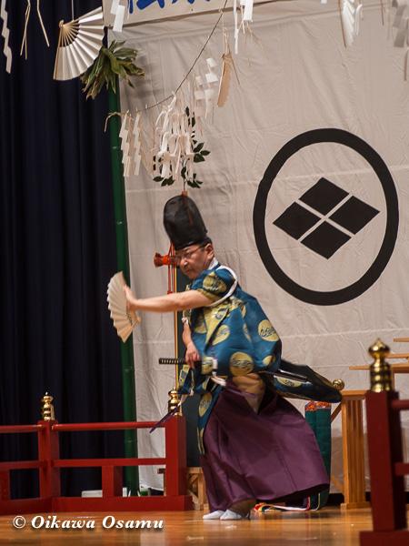 松前神楽小樽ブロック保存会合同公演 2013 京極町 後志 注連祓舞