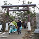 平成26年 松前町・清部八幡神社 新春門祓い・神楽奉納