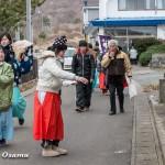 松前町・原口八幡神社 新年門祓い・歳旦祭(平成28年)