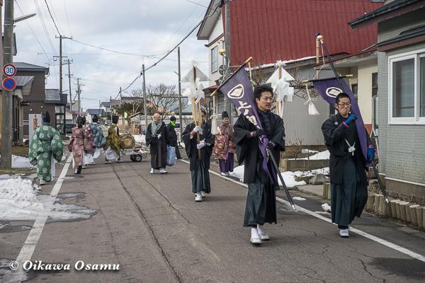 上ノ国八幡宮 新春門祓い 2016