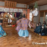 平成28年 松前町清部地区 清部八幡神社新年門祓い・神楽奉納