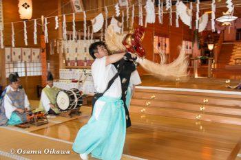 平成28年 鹿部稲荷神社 宵宮祭 松前神楽 十二の手獅子舞