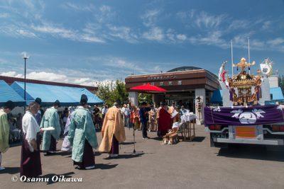美瑛神社渡御祭 2016 御旅所
