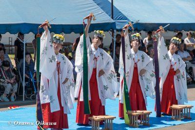 美瑛神社渡御祭 2016 浦安の舞