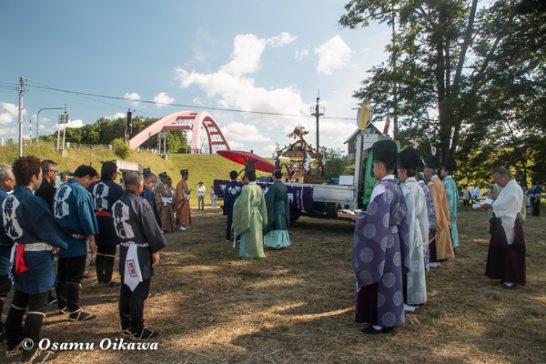 美瑛神社渡御祭 2016 旧神社跡地にて