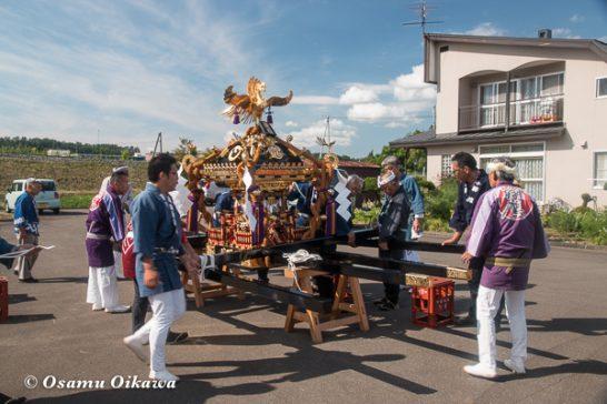 美瑛神社渡御祭 2016 神輿準備