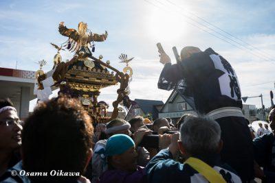 美瑛神社渡御祭 2016 御旅所にて 神輿