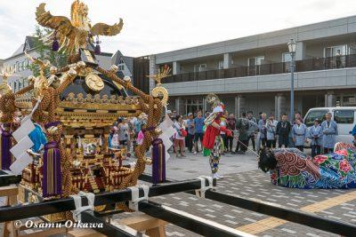 美瑛神社渡御祭 2016 獅子舞
