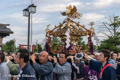 美瑛神社渡御祭 2016 神輿宮入り