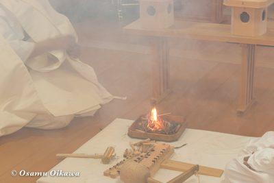 美瑛神社 美瑛・那智火祭 奉祝御鎮座120年記念 火きり神事