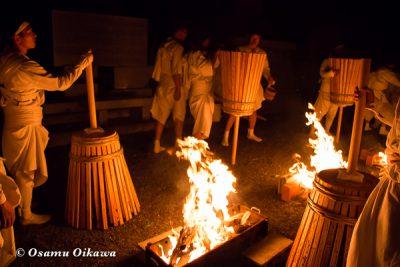 美瑛神社 美瑛・那智火祭 奉祝御鎮座120年記念 丸山公園で点火