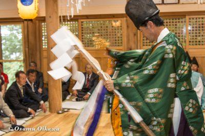 平成28年 尻岸内八幡神社 鎮座400年祭 松前神楽 直会祭 榊舞