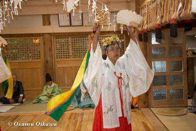 平成28年 尻岸内八幡神社 鎮座400年祭 松前神楽 直会祭 鈴上舞