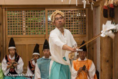 平成28年 尻岸内八幡神社 鎮座400年祭 松前神楽 直会祭 山神舞