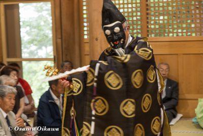 平成28年 尻岸内八幡神社 鎮座400年祭 松前神楽 直会祭 三番叟