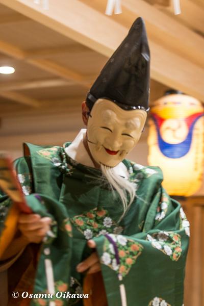 平成28年 尻岸内八幡神社 鎮座400年祭 松前神楽 直会祭 翁舞