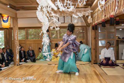平成28年 尻岸内八幡神社 鎮座400年祭 松前神楽 直会祭 注連祓舞