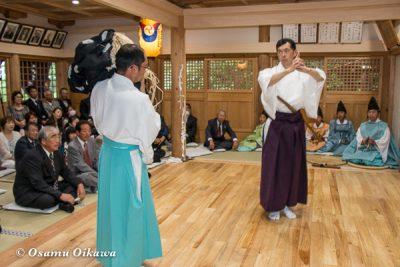 平成28年 尻岸内八幡神社 鎮座400年祭 松前神楽 直会祭 十二の手獅子舞・御稜威舞