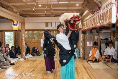 平成28年 尻岸内八幡神社 鎮座400年祭 松前神楽 直会祭 十二の手獅子舞五方