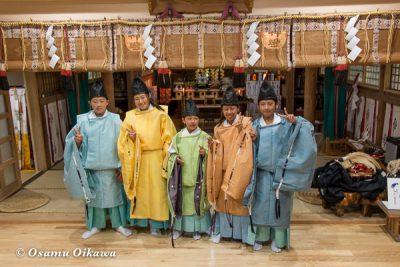 平成28年 尻岸内八幡神社 鎮座400年祭 直会祭 子供達