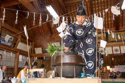 松前神社 2016 鎮釜湯立式