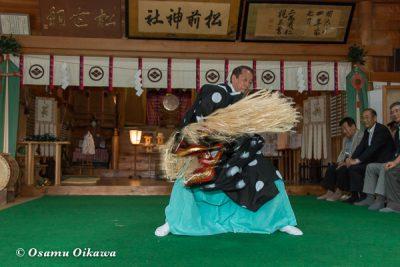 松前神社 2016 松前神楽 十二の手獅子舞五方