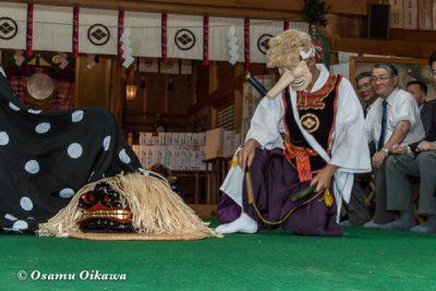 松前神社 2016 松前神楽 十二の手獅子舞面足獅子