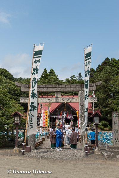 松前神社 宵宮祭 行列 神社前 平成28年