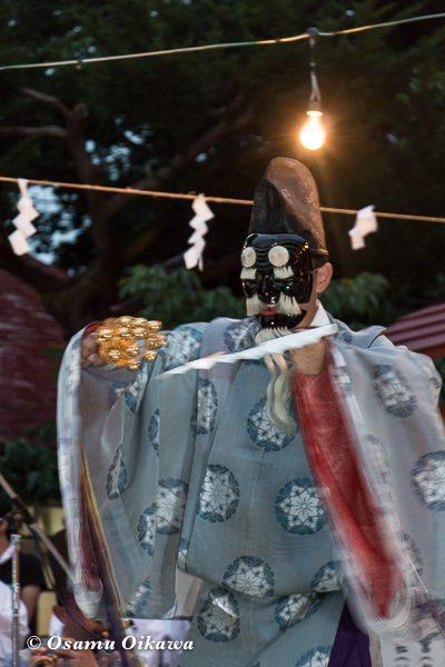 松前神社 宵宮祭 松前神楽 三番叟 平成28年