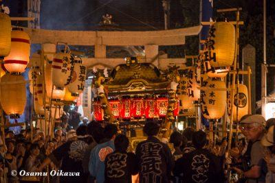 北海道,姥神大神宮渡御祭,山車,平成28年,江差町,下町巡行,神事,宿入れの儀